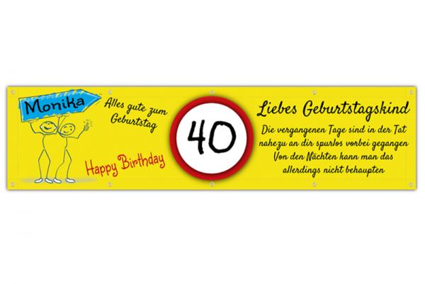 Geburtstagsbanner zum 40 | Geburtstags Banner 50 | Geburtstagsbanner 18 | Geburtstags-Banner online gestalten