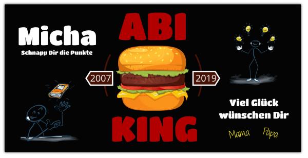 """Abibanner """"ABI-KING"""" - Querformat Werbebanner"""