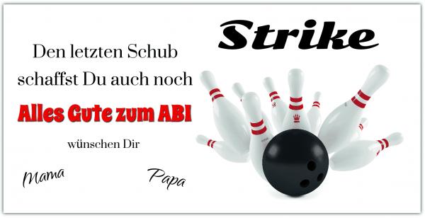 ABI Plakat Bowlingkugel - Abiposter online selbst gestalten