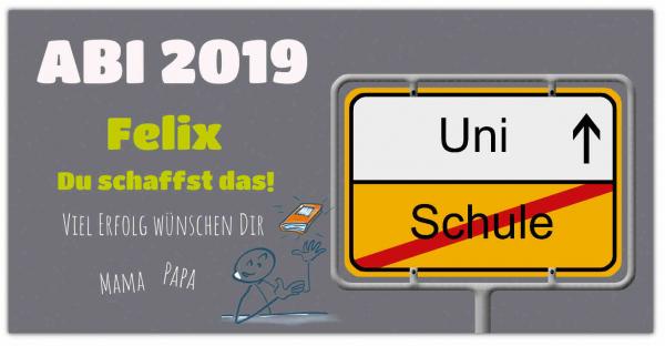"""ABI-Banner - """"Schule zur Uni"""""""