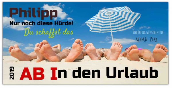 "Abiplakat ""Ab in den Urlaub Motiv"""