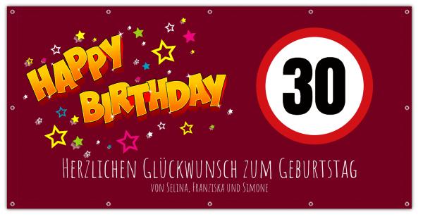 Banner zum Geburtstag - 30 Geburtstags Banner