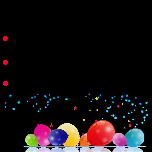 Geburtstagsbanner - Leeres Layout zum selbst gestalten