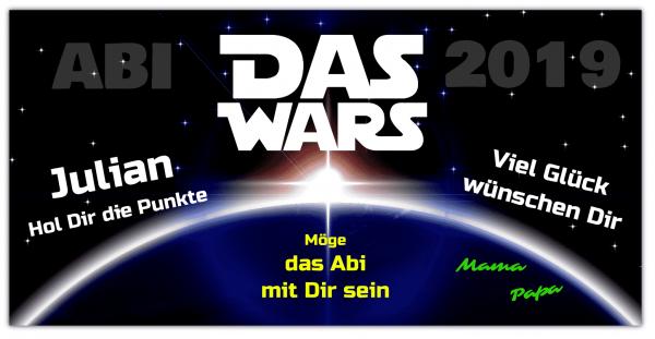 Abiplakat | Abiposter | Abibanner | Das Wars | Star Wars | Daswars | Starwars |
