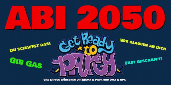 """ABI-Banner online selbst gestalten """"Party"""" Bannerdruck"""