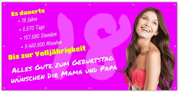 Geburtstags-Banner 18. Geburtstag - Zeitstrahl