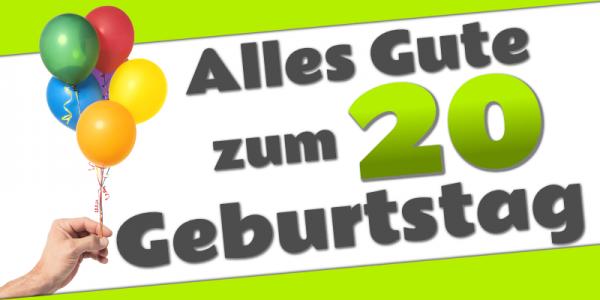 20. Geburtstag | Geburtstagsbanner | Geburtstags-Banner | Werbebanner | Mesh | Meshbanner | Banner drucken