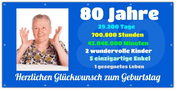 80 Geburtstag Banner - Zeitstrahl