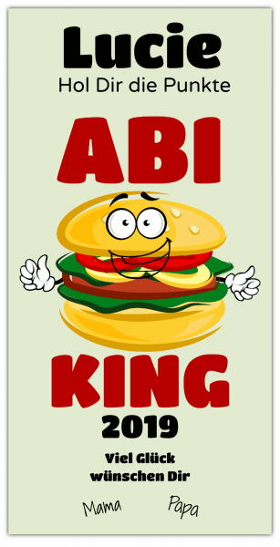 "Abi-Banner ""ABI-KING"" - Hochformat PVC-Banner"