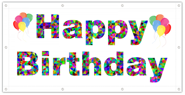 Geburtstags-Banner | Geburtstags Banner | Geburtstagsbanner | Geburtstagsposter | Geburtstagsplakat |